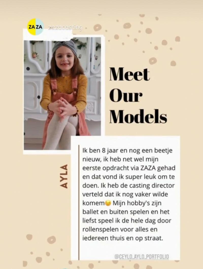 ZaZa Casting model ID: 11909